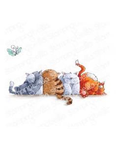 Sello Stampingbella squishy cats