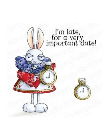 Sello Stampingbella Oddball white Rabbit