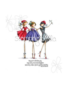 Sello Stampingbella Uptown Girls, The three amigas