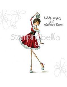 Sello Stampingbella Uptown Girl ever under mistletoe