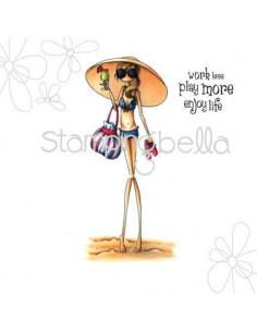 Sello Stampingbella Uptown Girl sandy in her sombrero