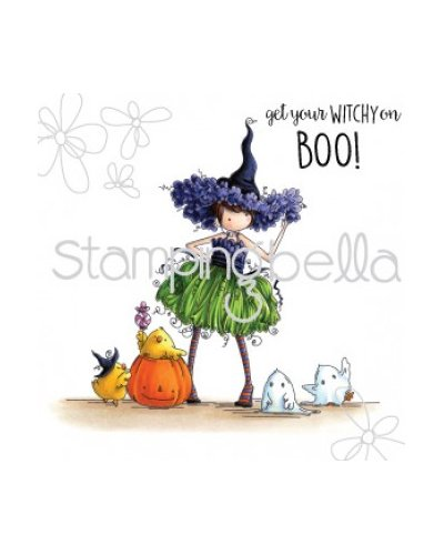 Sello Stampingbella Tiny Townie Willow the Witch