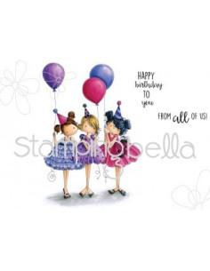 Sello Stampingbella Tiny Townie Birthday Party
