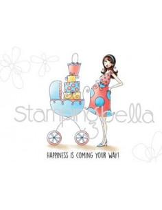 Sello Stampingbella Baby carriage Abella