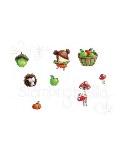 Sello Stampingbella LittlesBits fall fruit