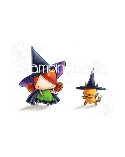 Sello Stampingbella Littles bits Little witches