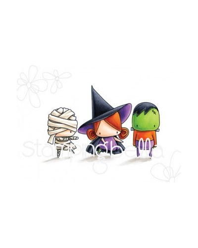 Sello Stampingbella Littles bits Frankie, Witchy, mummy
