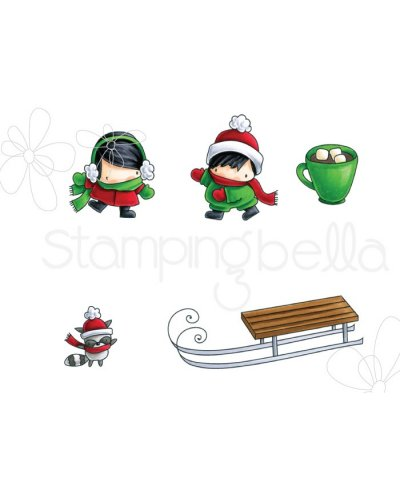 Sello Stampingbella Sledding