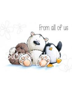 Sello Stampingbella The Walrus, the polar bear & Penguin