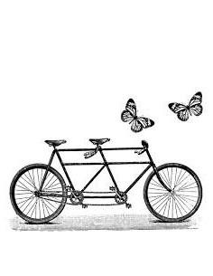 Sello Madera bicicleta