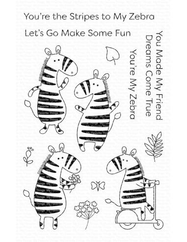 Sello mft Zippy Zebras