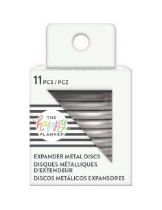 Anillas grandes metálicas plata Happy Planner