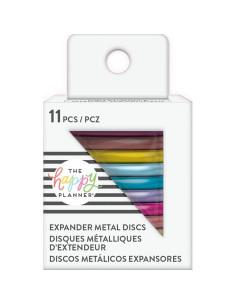 Anillas metálicas medianas arcoíris Happy Planner