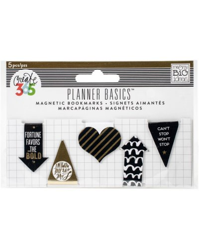 Clips magnéticos white/black/gold happyplanner