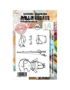 Sello Go fish Aall&Create