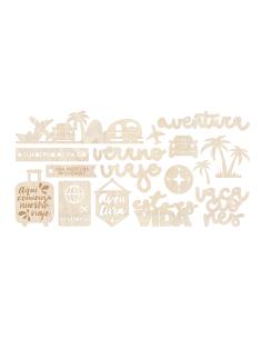 Set maderitas Etiquetas de Gigietmoi
