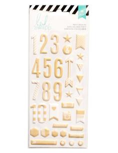 Pegatina alfabeto Dorado de Heidi Swapp puffy