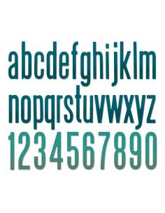 Troquel thinlits alfanumérico minúsculo Tim Holtz