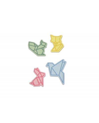 Troquel thinlits origami animals