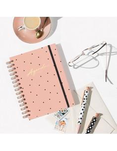 Agenda sin fechas rosa