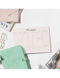 Planificador Mi semana. Pink