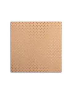 Cardstock beige con topos foil