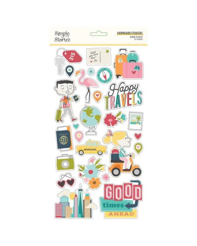 Chipboard Going places de Simple stories