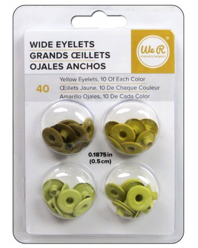 "Wide Eyelets 3/16"" amarillo"