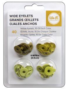 """Wide Eyelets 3/16"""" amarillo"""