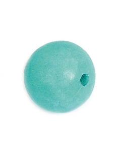 Bola de madera encerada turquesa