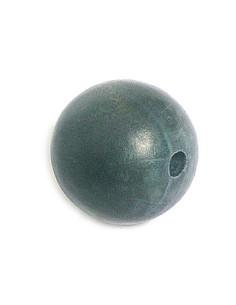 Bola de madera encerada gris