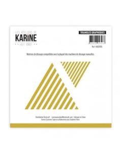 Troquel triangles graphiques de karine