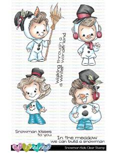 C.C. Designs sello snowman kids