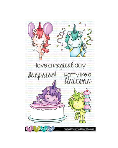 C.C. Designs sello PARTY UNICORNS