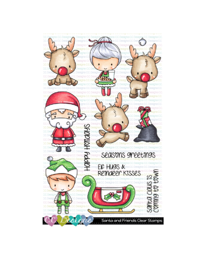 C.C. Designs sello SANTA AND FRIENDS