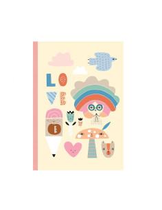 Cuaderno Rainbow Girl Petit Monkey