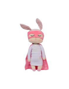 Muñeca Miniroom Little Bunny Super Hero Fucsia Personalizable Miniroom