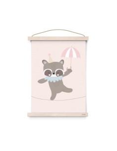 Poster A3 Circus Raccoon Rope Dancer Eef Lillemor