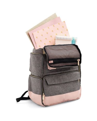 Mochila pink crafters de we are memory keepers