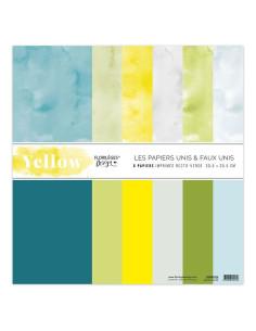 kit papel Yellow de florileges