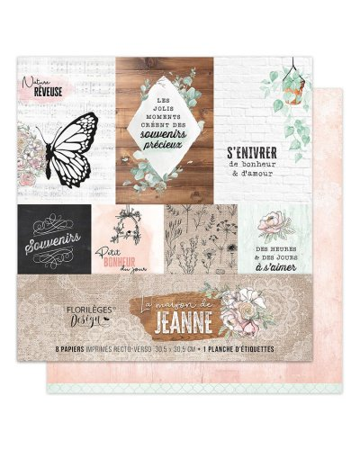 kit papel Sakura de florileges