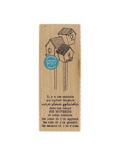 Sello madera panoplie champetre