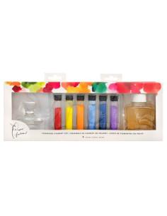 Set de pigmentos de pinturas en polvo