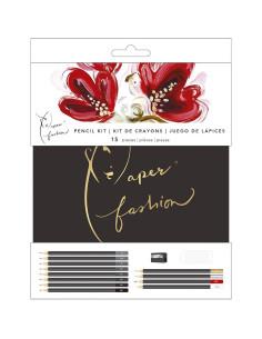 juego de lápices paper fashion