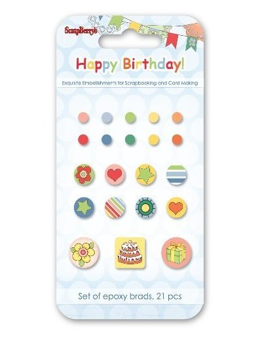 Happy Birthday brads