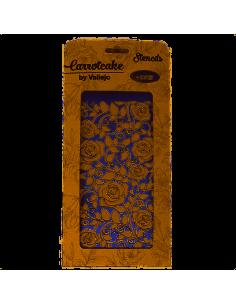 plantilla leaves and roses de carrotcake