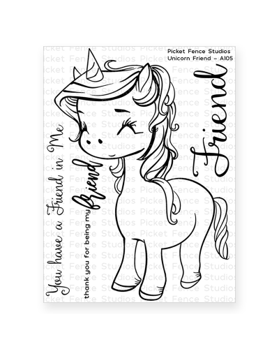 Sello Unicorn friend de Picket fence