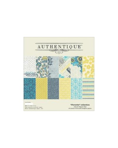"bolck de 12x12 ""favorite"" de authentique"