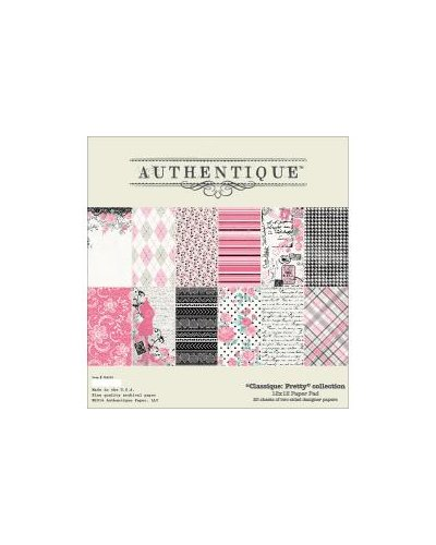 "bolck de 12x12 "" pretty"" de authentique"
