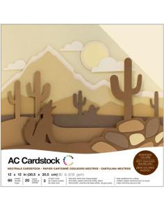 "Cardstock Pack neutrals 12""X12"""